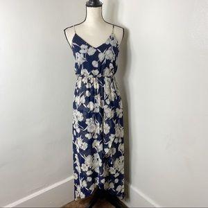 Sienna Sky Navy Cream Floral Sleeveless Maxi Dress